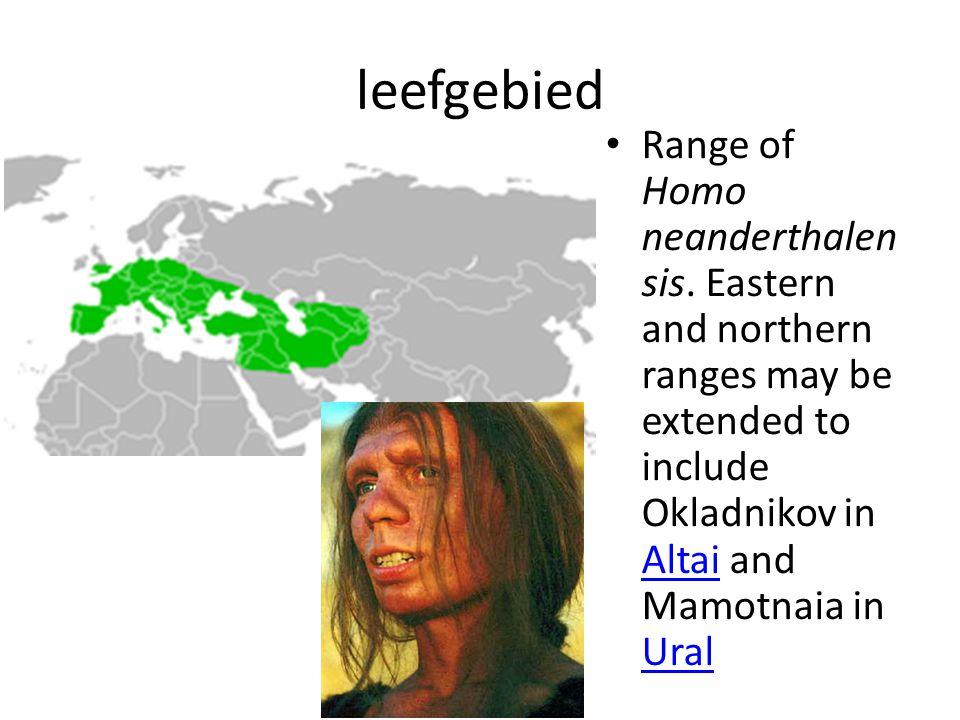 leefgebied Range of Homo neanderthalensis.