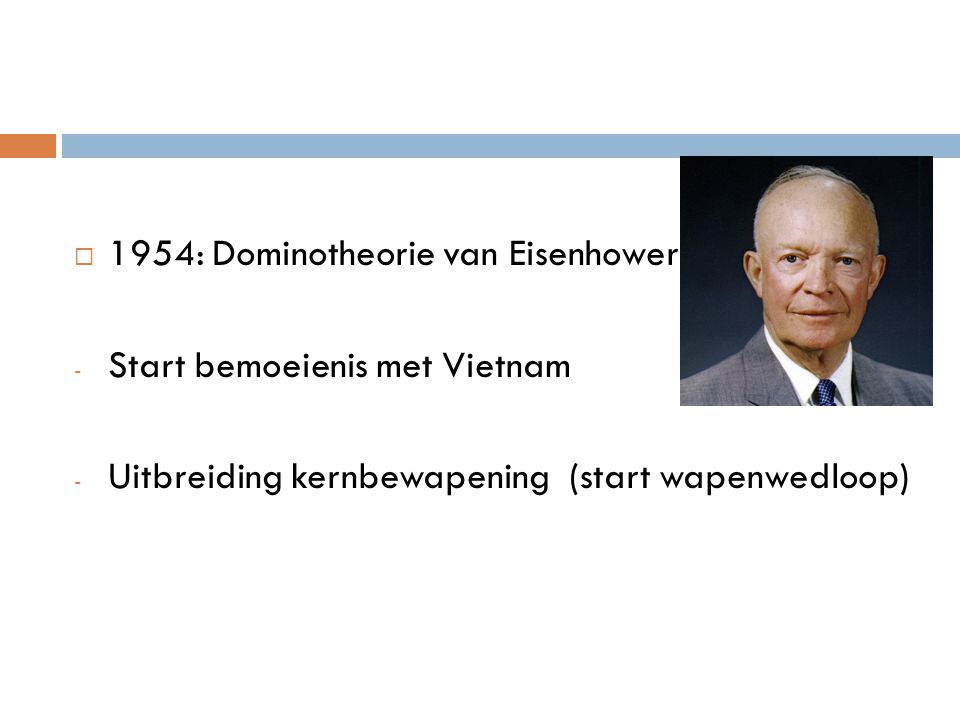 1954: Dominotheorie van Eisenhower