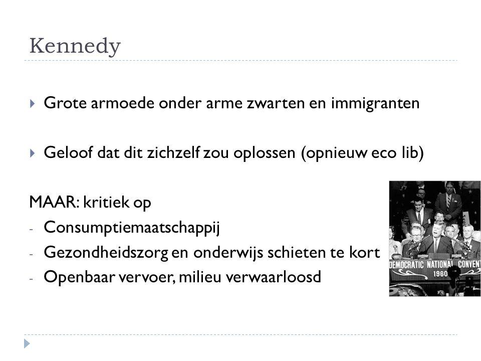 Kennedy Grote armoede onder arme zwarten en immigranten