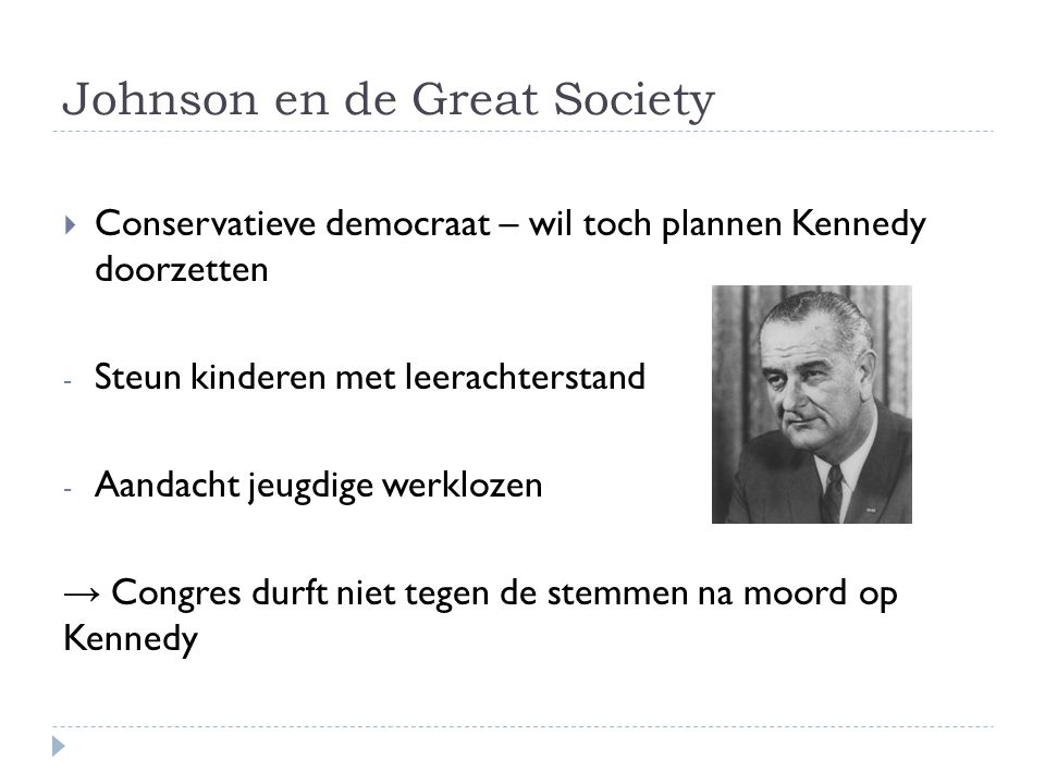 Johnson en de Great Society