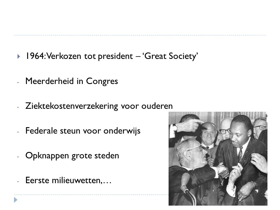 1964: Verkozen tot president – 'Great Society'