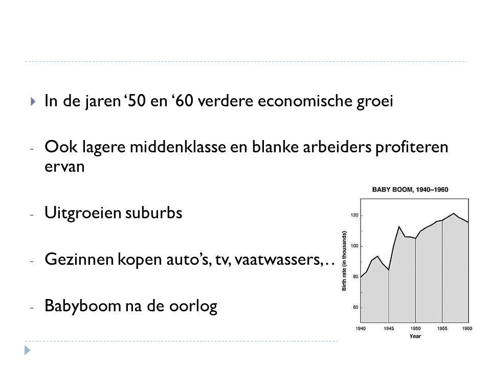In de jaren '50 en '60 verdere economische groei