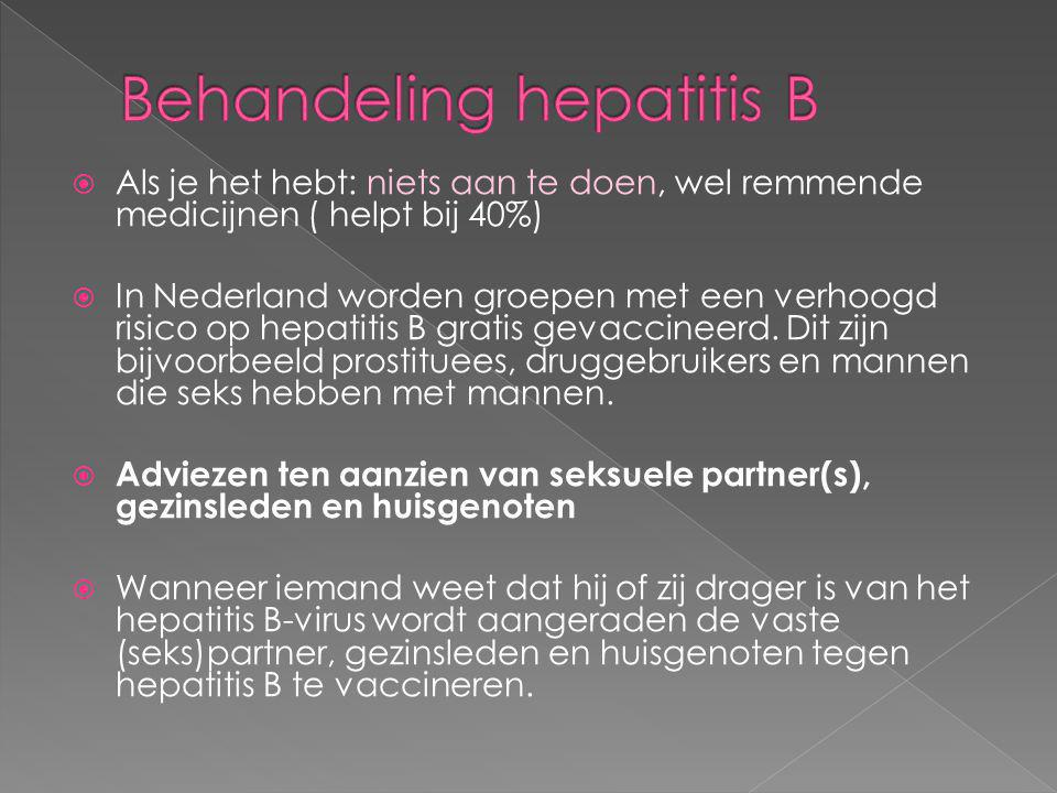 Behandeling hepatitis B