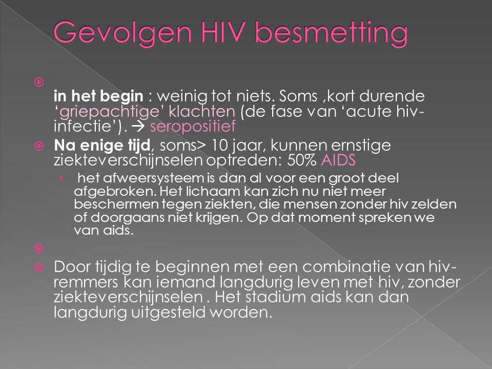 Gevolgen HIV besmetting