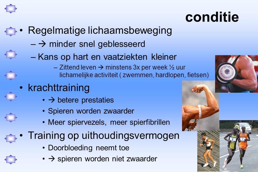conditie Regelmatige lichaamsbeweging krachttraining