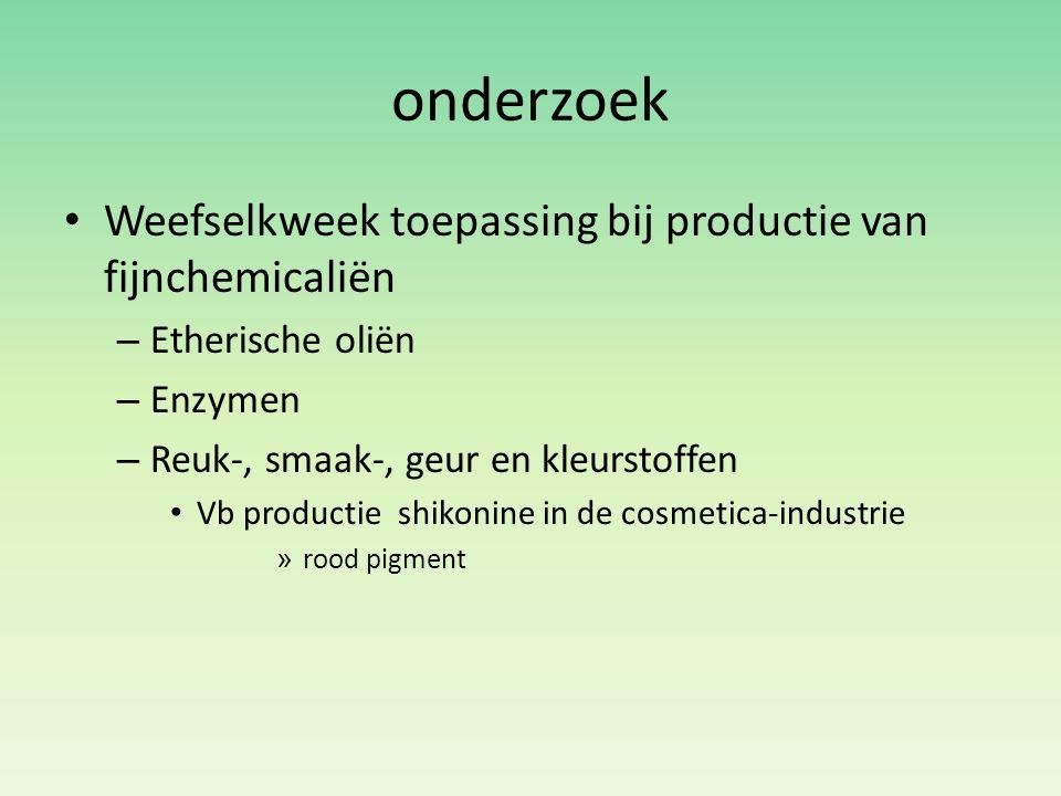 onderzoek Weefselkweek toepassing bij productie van fijnchemicaliën