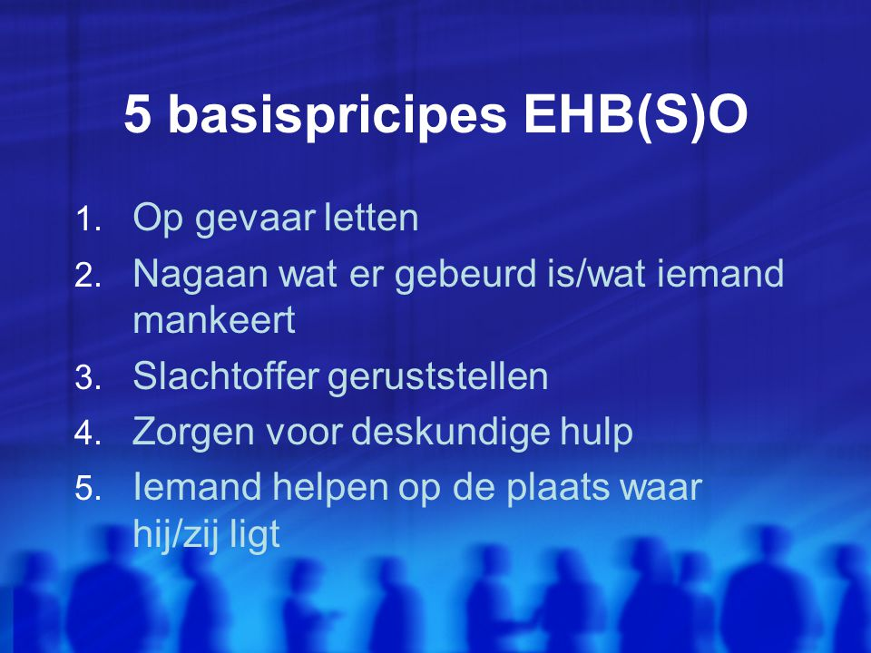 5 basispricipes EHB(S)O