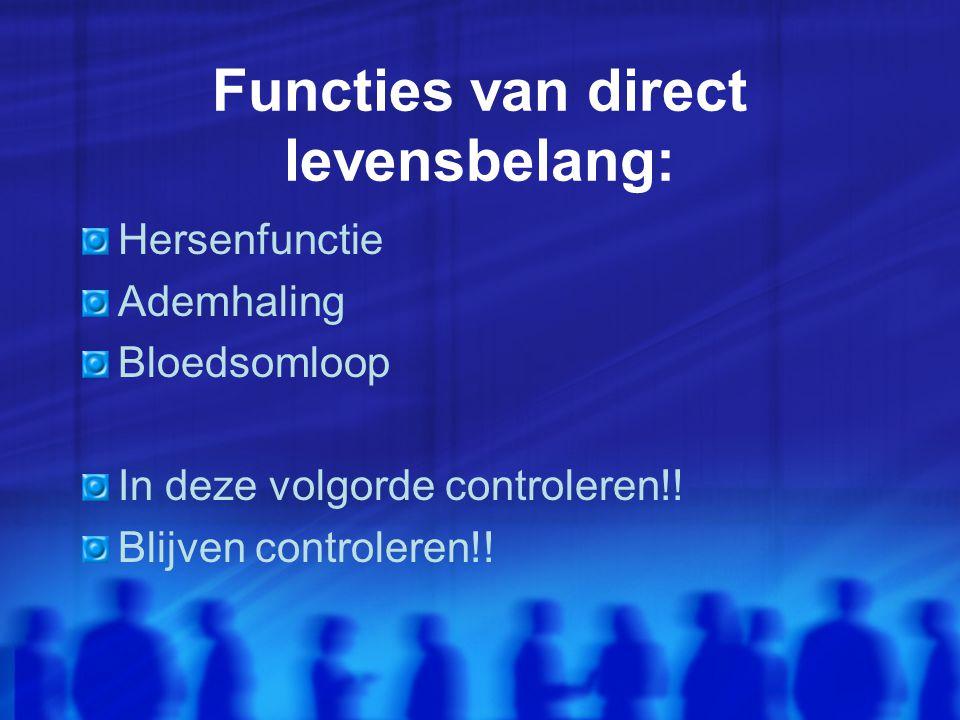 Functies van direct levensbelang: