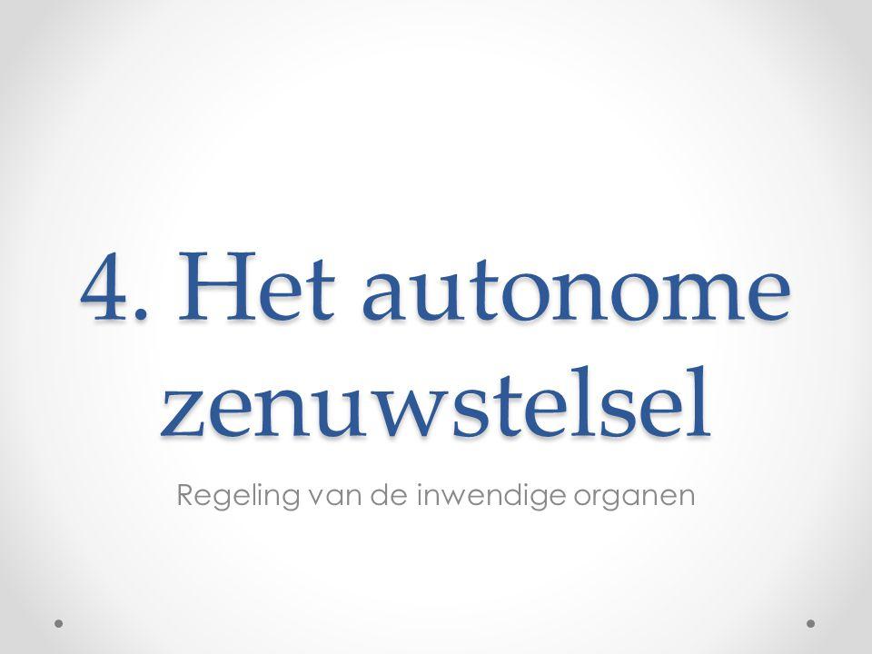 4. Het autonome zenuwstelsel