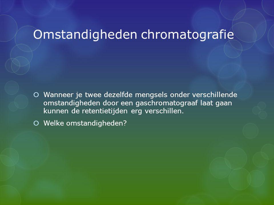Omstandigheden chromatografie