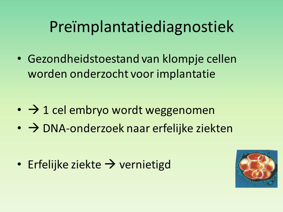 Preïmplantatiediagnostiek