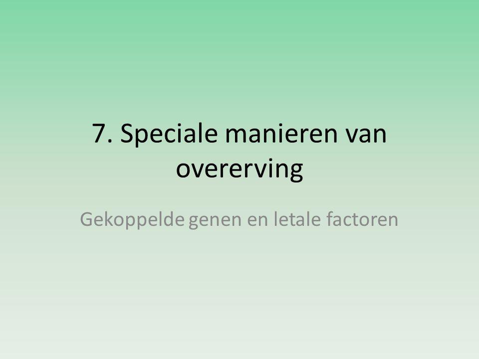 7. Speciale manieren van overerving