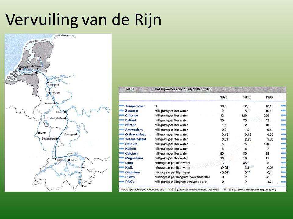 Vervuiling van de Rijn http://www.kennislink.nl/publicaties/de-rijn-verontreinigd-en-gesaneerd