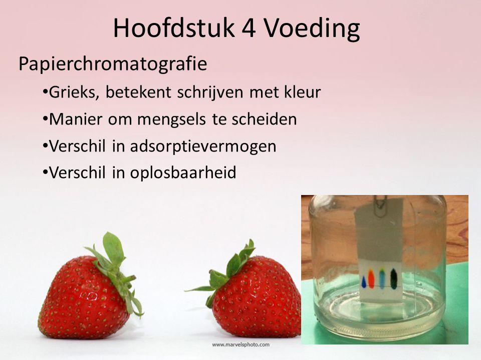 Hoofdstuk 4 Voeding Papierchromatografie