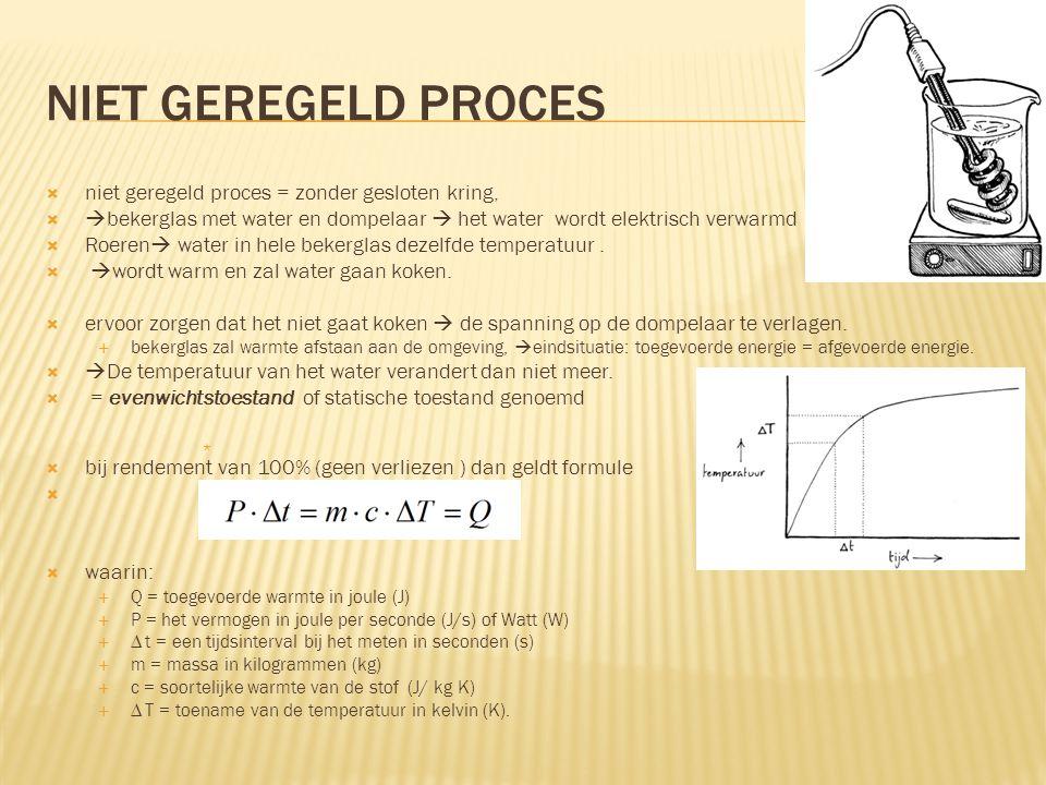 niet geregeld proces niet geregeld proces = zonder gesloten kring,