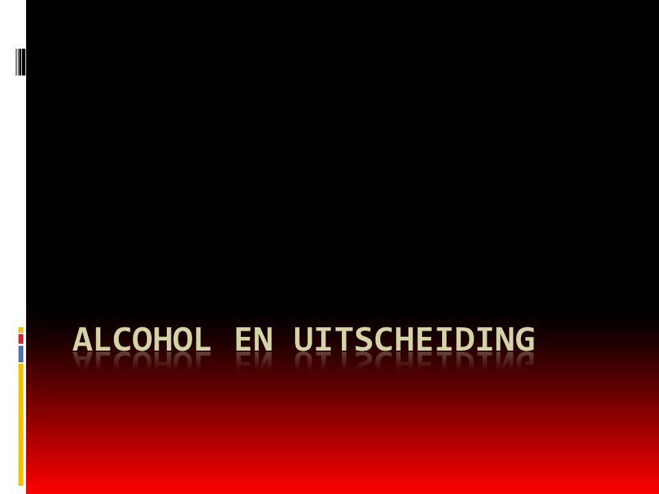 Alcohol en uitscheiding