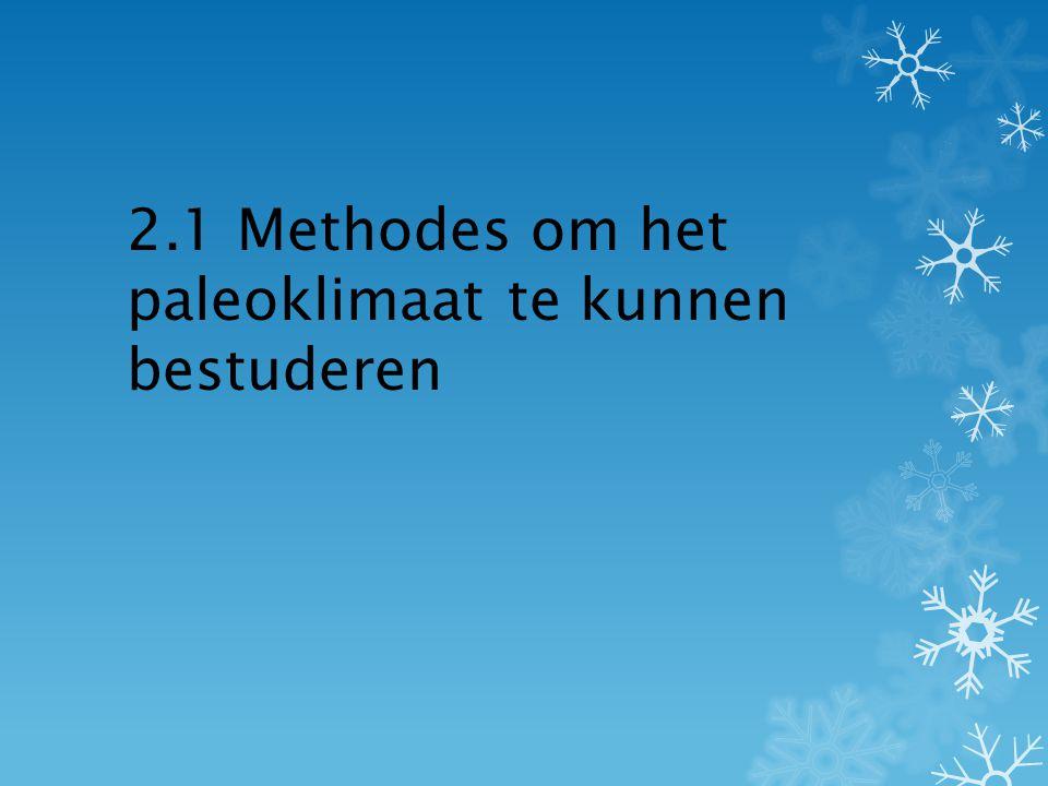 2.1 Methodes om het paleoklimaat te kunnen bestuderen