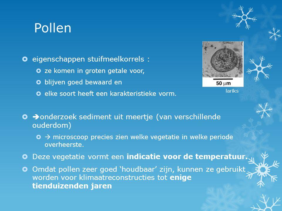 Pollen eigenschappen stuifmeelkorrels :