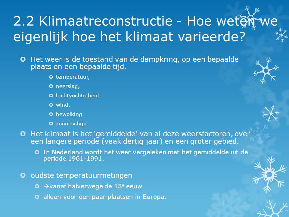 2.2 Klimaatreconstructie - Hoe weten we eigenlijk hoe het klimaat varieerde