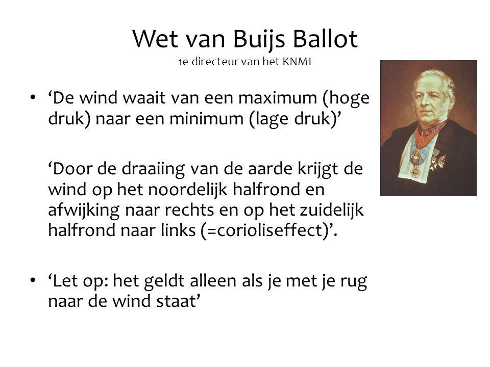 Wet van Buijs Ballot 1e directeur van het KNMI