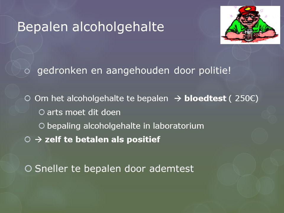 Bepalen alcoholgehalte