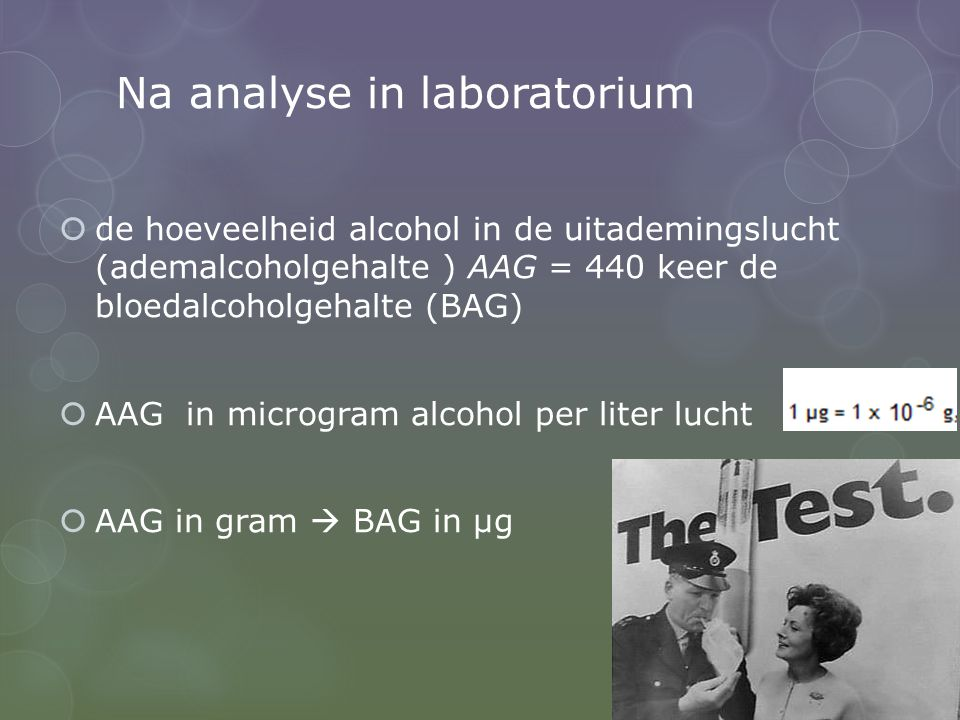 Na analyse in laboratorium