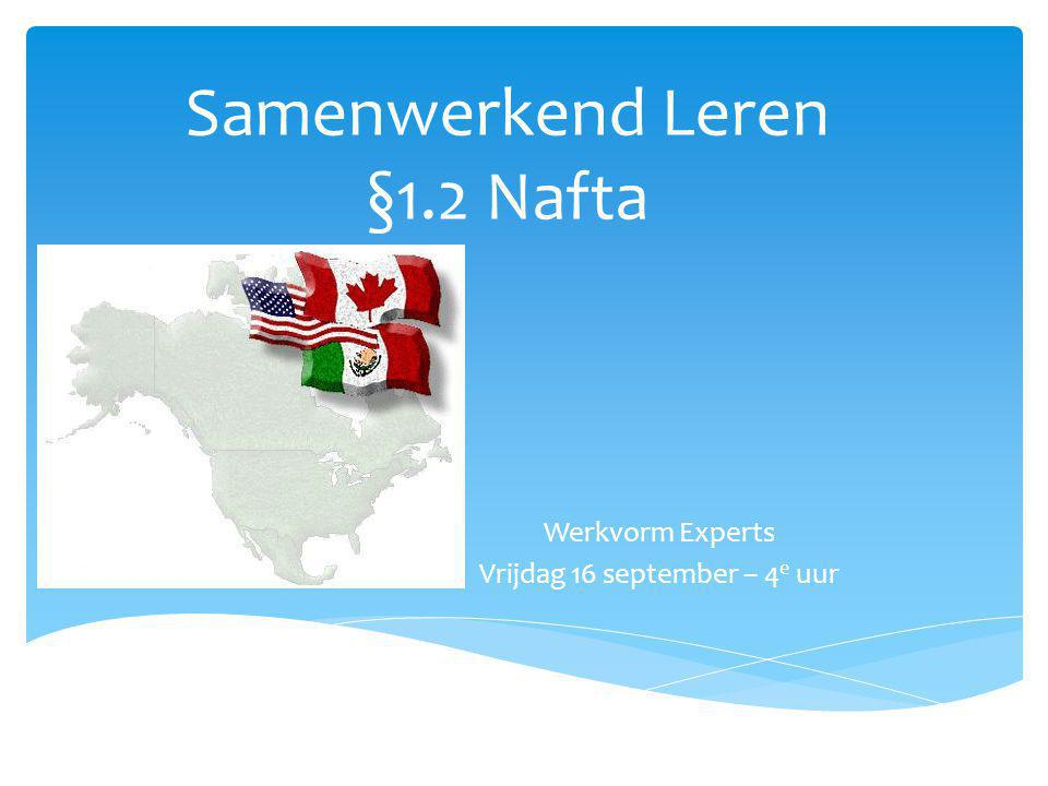 Samenwerkend Leren §1.2 Nafta