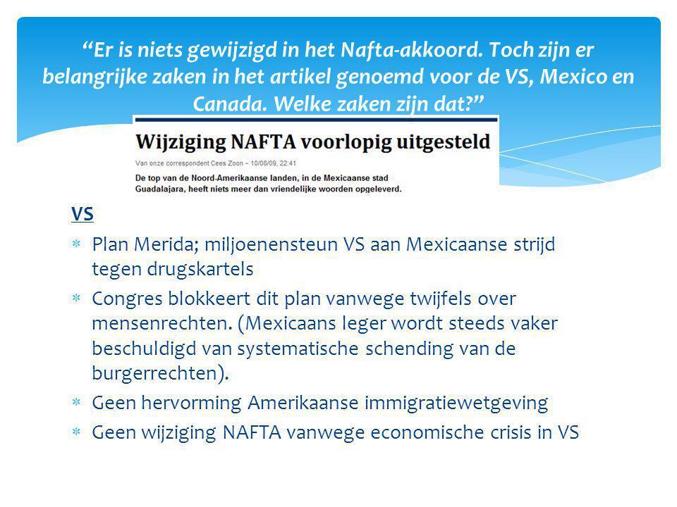 Er is niets gewijzigd in het Nafta-akkoord