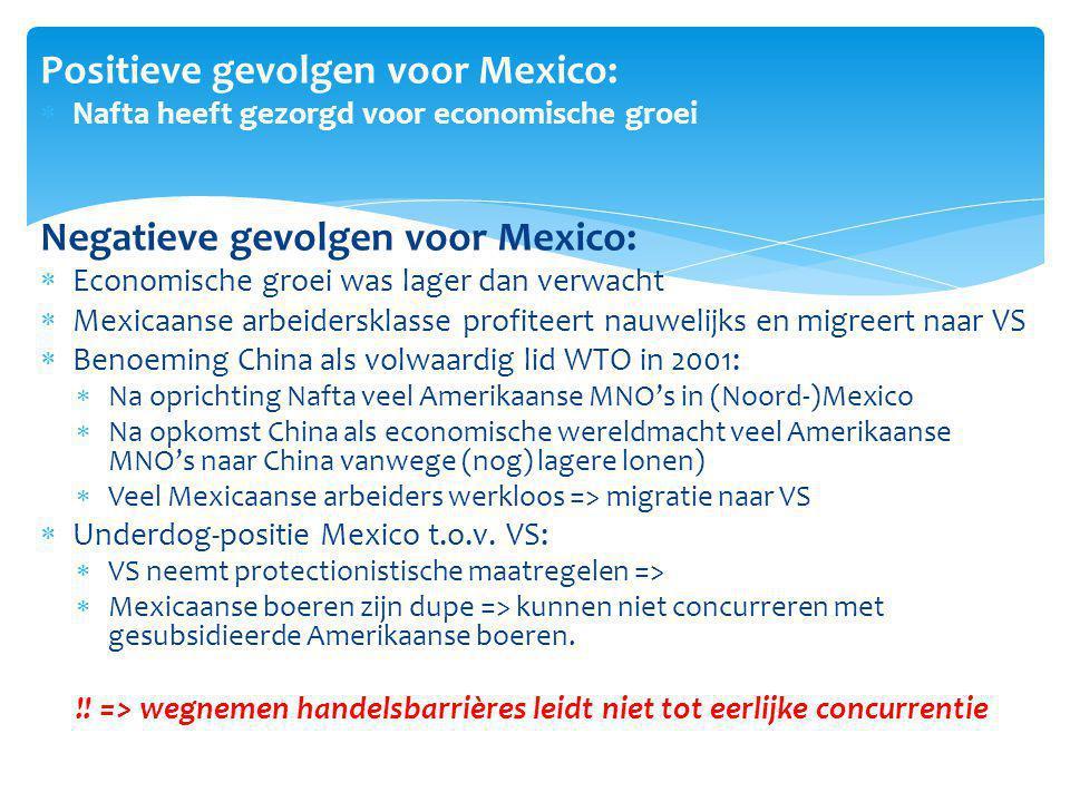 Positieve gevolgen voor Mexico: