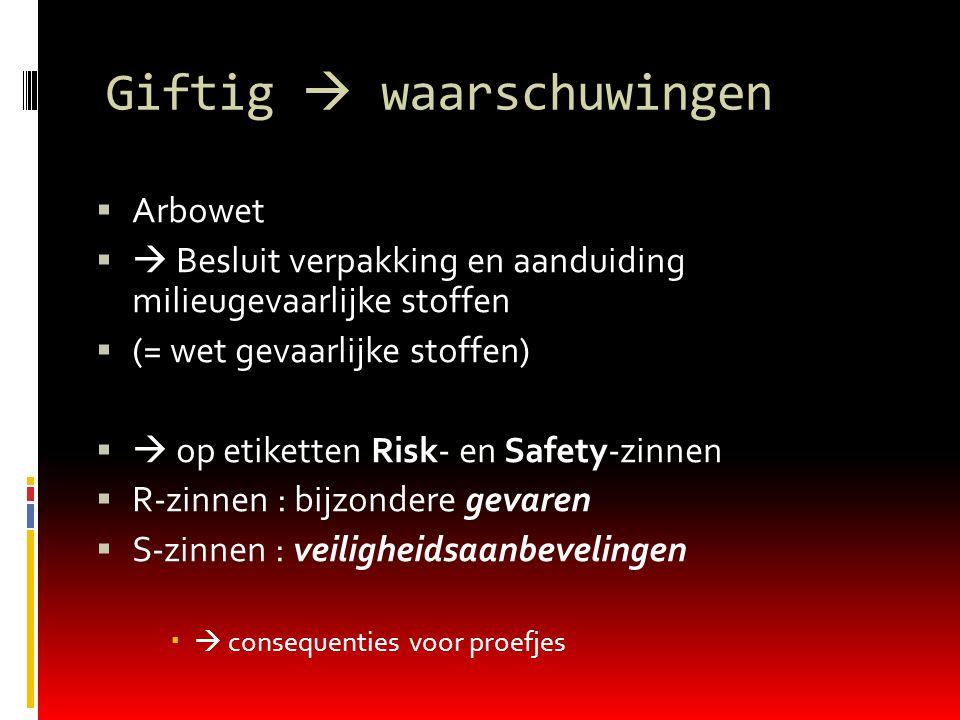 Giftig  waarschuwingen