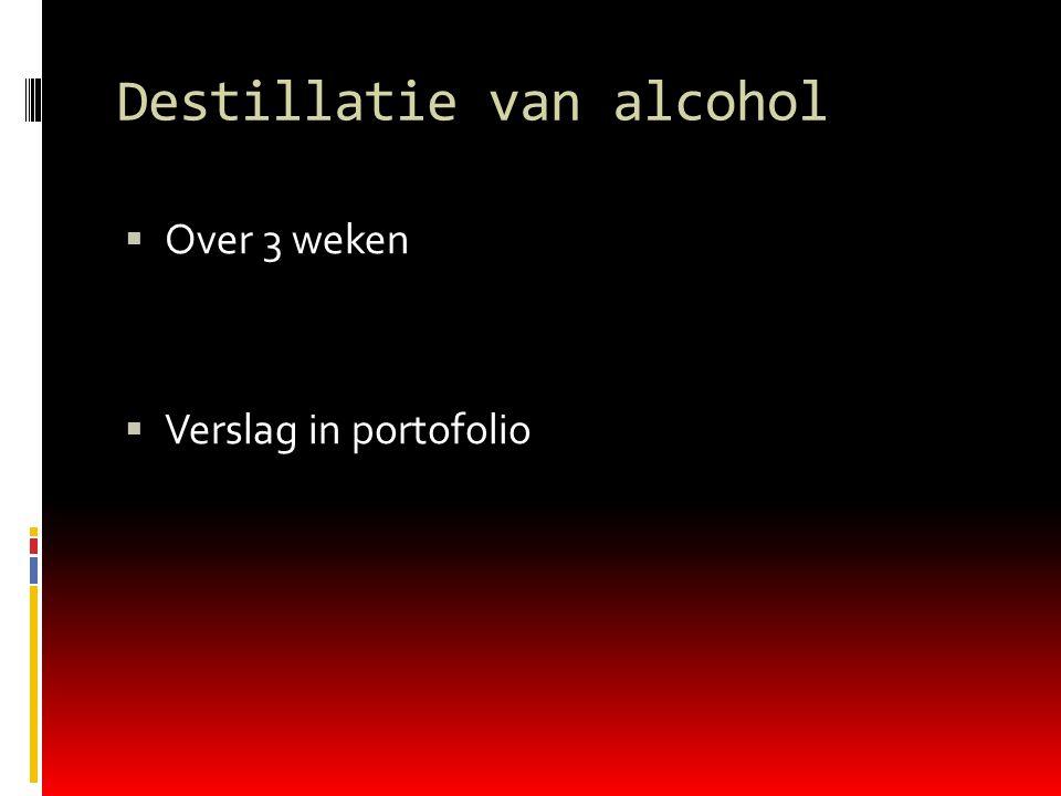 Destillatie van alcohol