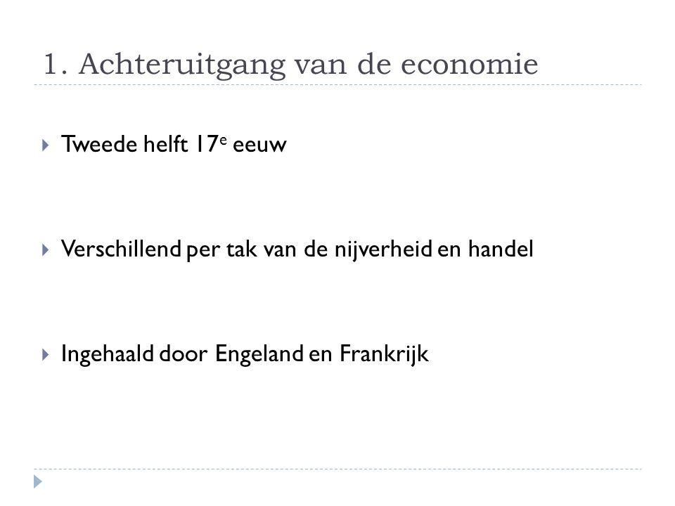 1. Achteruitgang van de economie