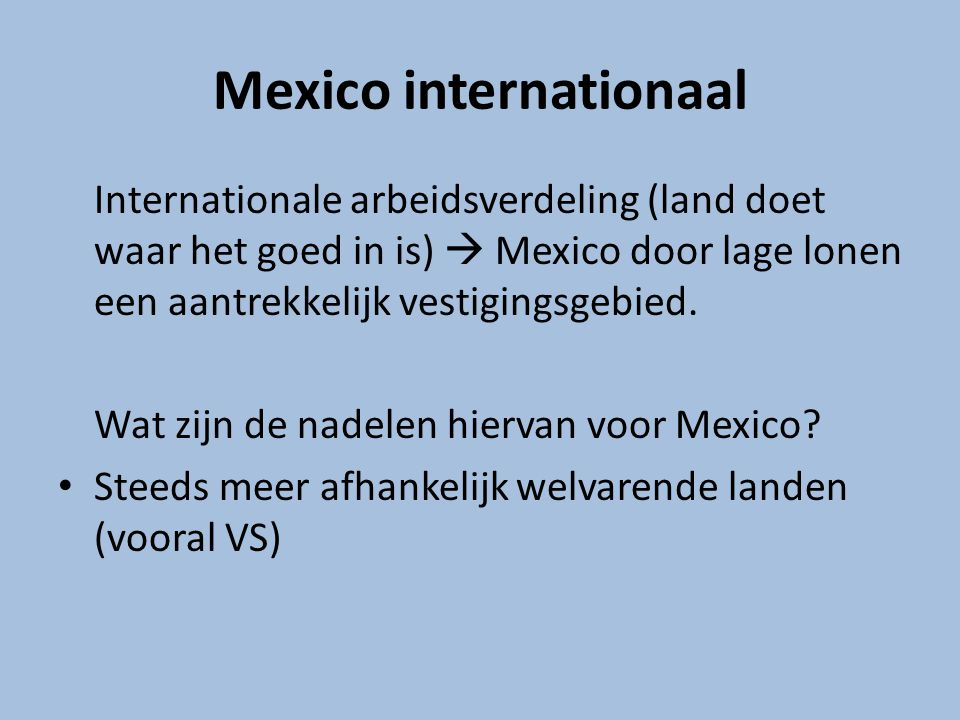 Mexico internationaal