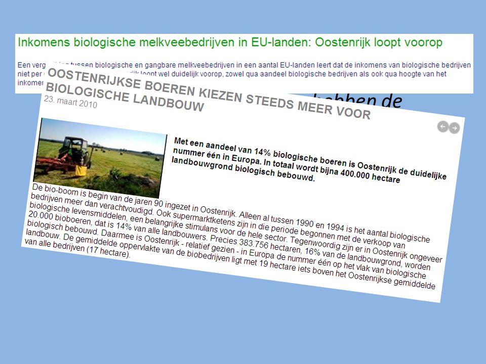 Met welke veranderingen hebben de Oostenrijkse en Nederlandse landbouw bij toenemende vrije handel te maken