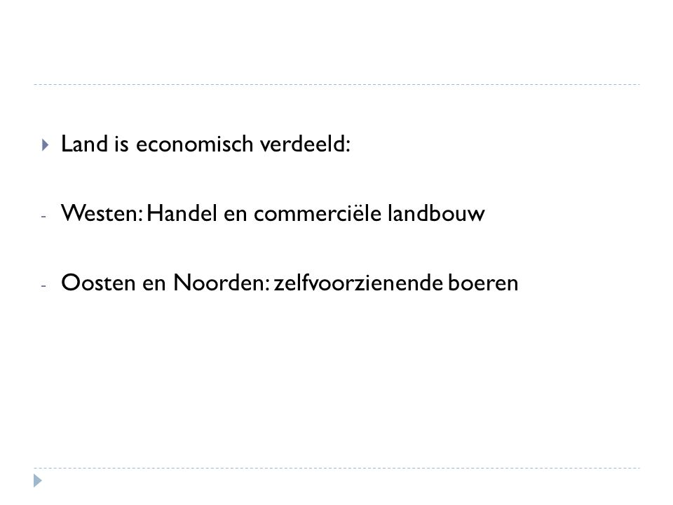 Land is economisch verdeeld:
