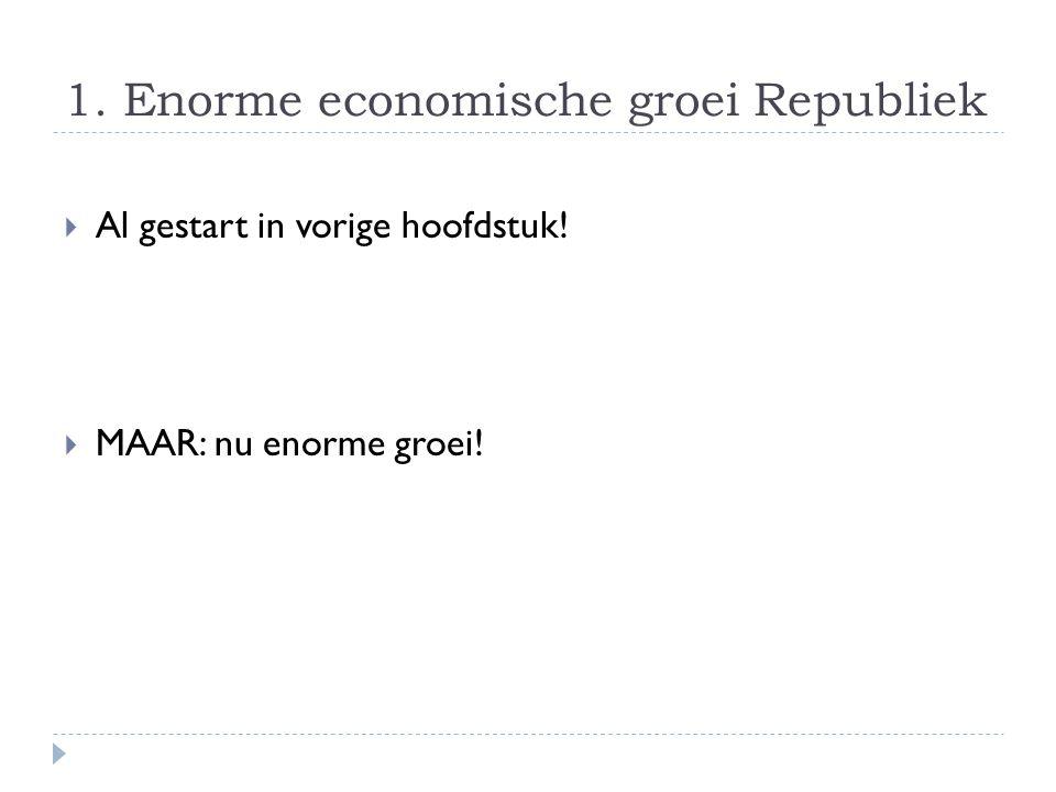 1. Enorme economische groei Republiek