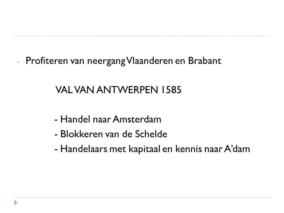 Profiteren van neergang Vlaanderen en Brabant