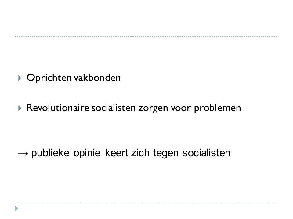 Oprichten vakbonden Revolutionaire socialisten zorgen voor problemen.