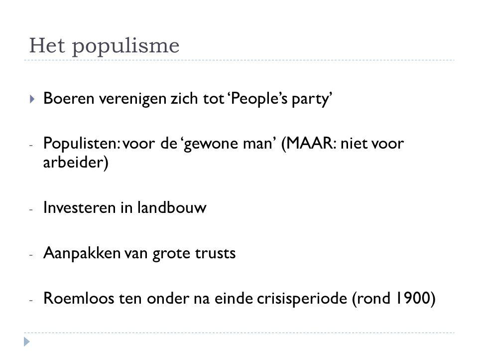 Het populisme Boeren verenigen zich tot 'People's party'
