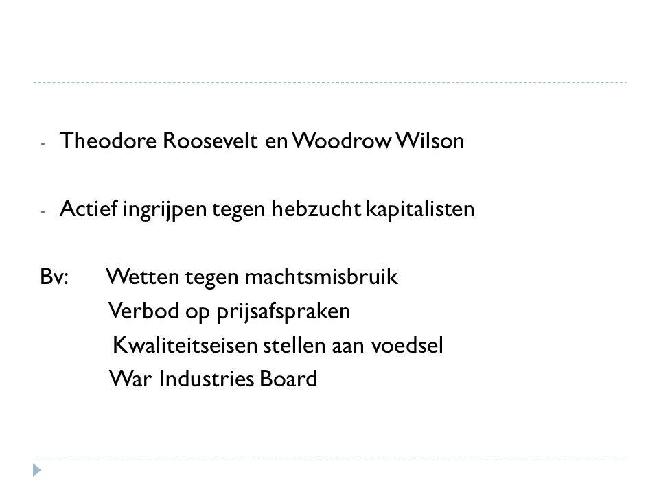 Theodore Roosevelt en Woodrow Wilson