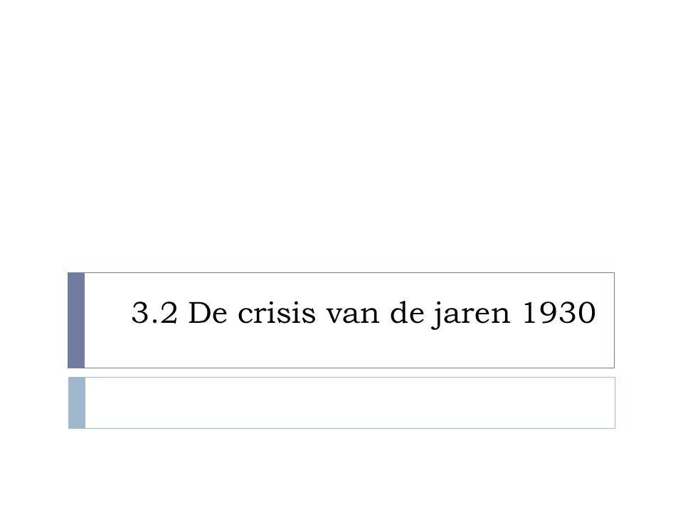3.2 De crisis van de jaren 1930
