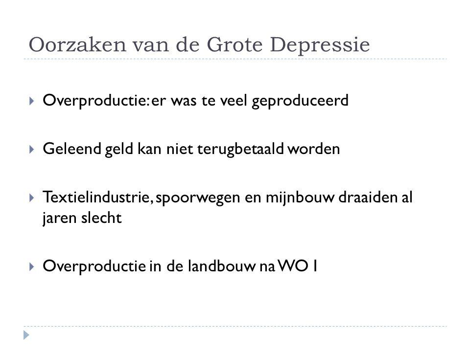 Oorzaken van de Grote Depressie