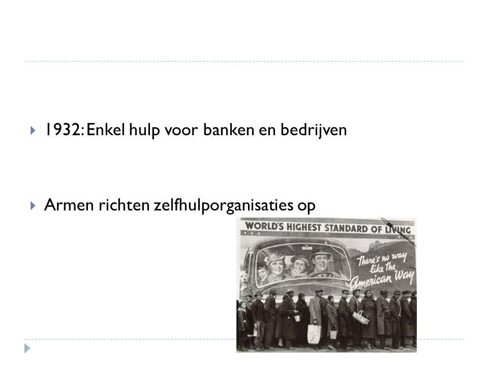 1932: Enkel hulp voor banken en bedrijven
