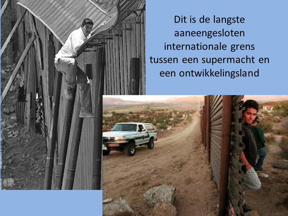 Dit is de langste aaneengesloten internationale grens tussen een supermacht en een ontwikkelingsland