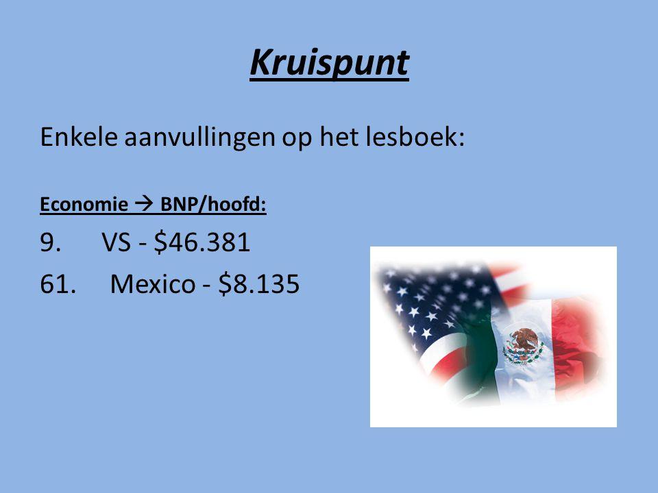 Kruispunt Enkele aanvullingen op het lesboek: 9. VS - $46.381