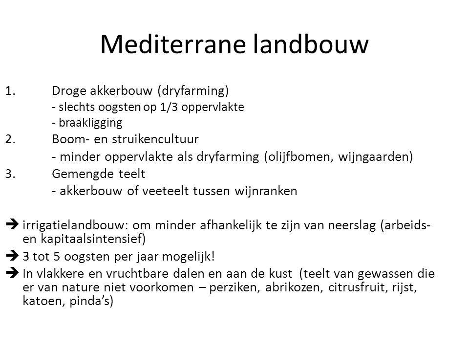 Mediterrane landbouw 1. Droge akkerbouw (dryfarming)