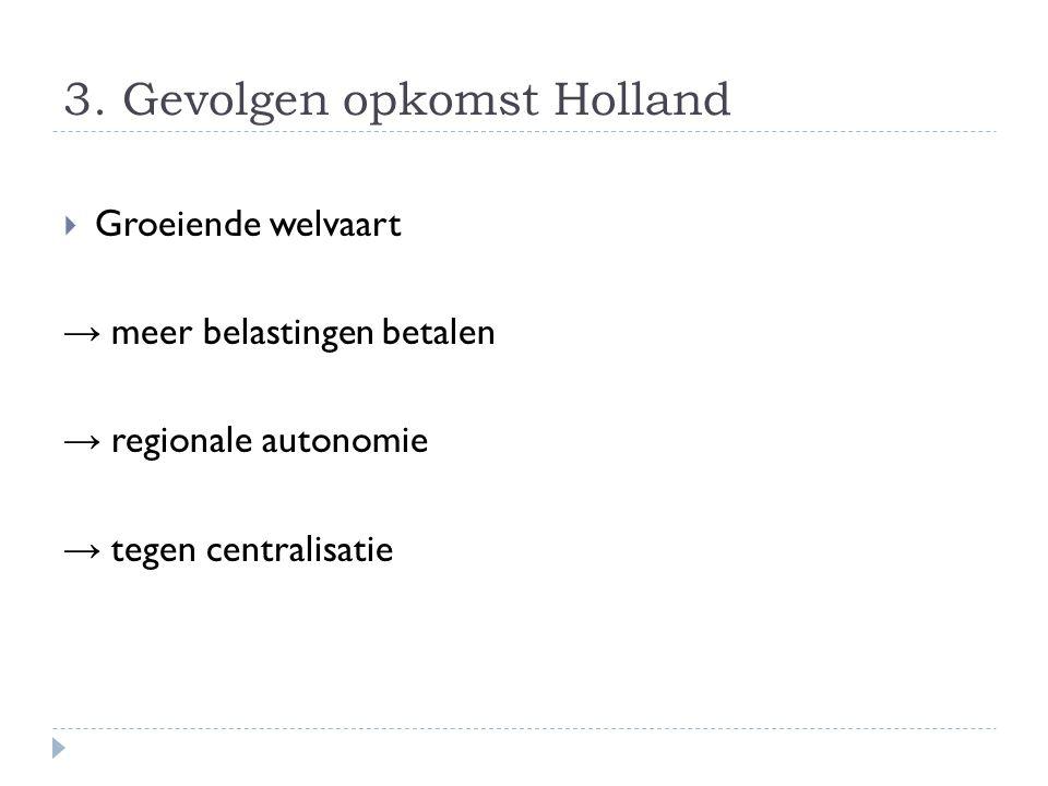 3. Gevolgen opkomst Holland