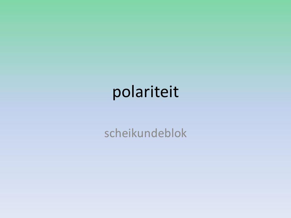 polariteit scheikundeblok
