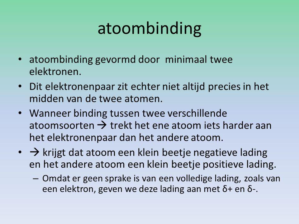 atoombinding atoombinding gevormd door minimaal twee elektronen.