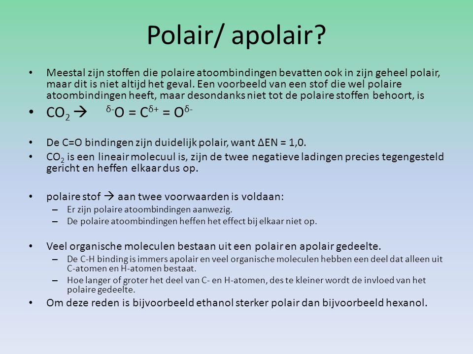 Polair/ apolair CO2  δ-O = Cδ+ = Oδ-